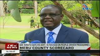 Governor Kiraitu says his government is focused on people-driven programmes
