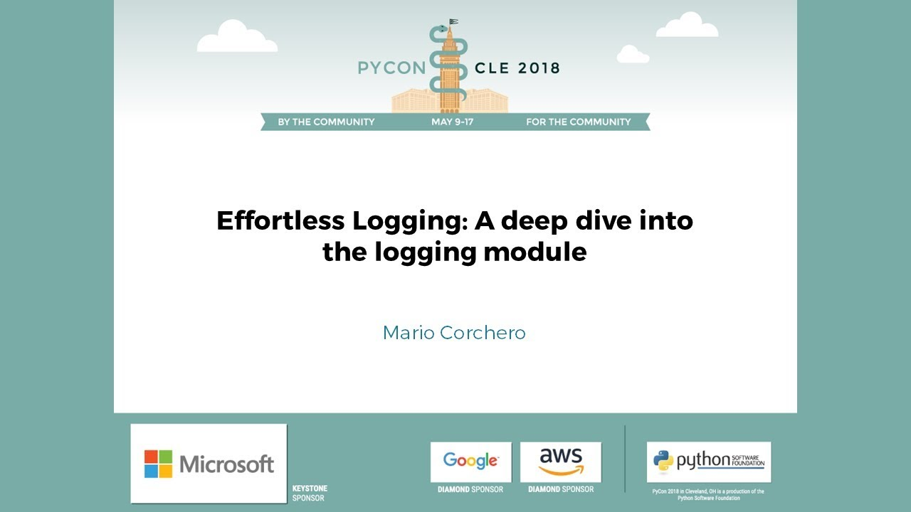 Image from Effortless Logging: A deep dive into the logging module