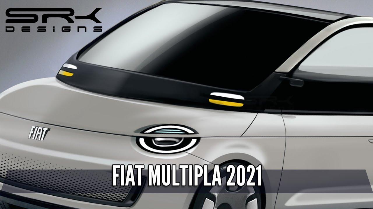 2021 Fiat Multipla Electric Concept - Photoshop Car Rendering | SRK Designs