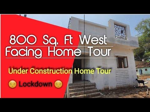 800Sq.Ft | West Facing House | Under Construction Home Tour | GIRI Homes Kumbakonam