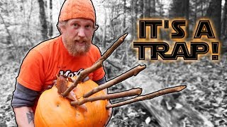 First Trap I Built in Patagonia On Alone Primitive Deadfall / Spike Pit Trap (87 Days Episode 13)