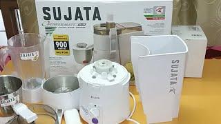 Sujata Powermatic Plus 900Watt Juicer/Mixer/Grinder Feature and Quick Review (Hindi)