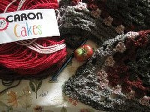 Pine Notes~Crochet~Caron Cake Review & Poncho~Virus Shawl Circular Vest News