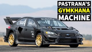 Travis Pastrana's NEW Subaru STI Gymkhana Car: First Ever Tire Test (In All Raw Carbon!)