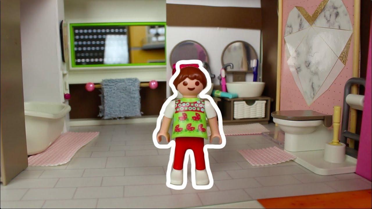 💛Playmobil Badezimmer in der Luxusvilla - Pimp my Playmobil - Dollhouse  DiYs - Familie Sonnenschein