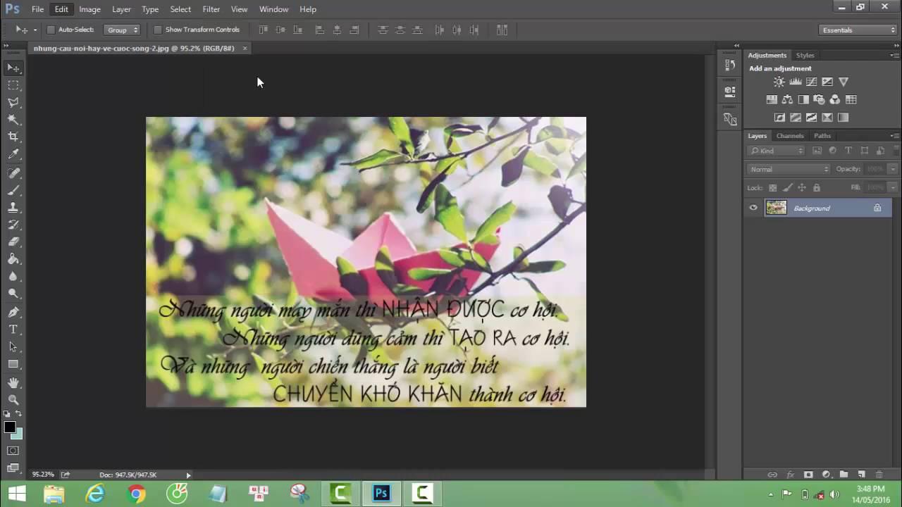 Hướng dẫn zoom ảnh bằng cách lăn chuột trong Photoshop /Enable zoom with scroll wheel