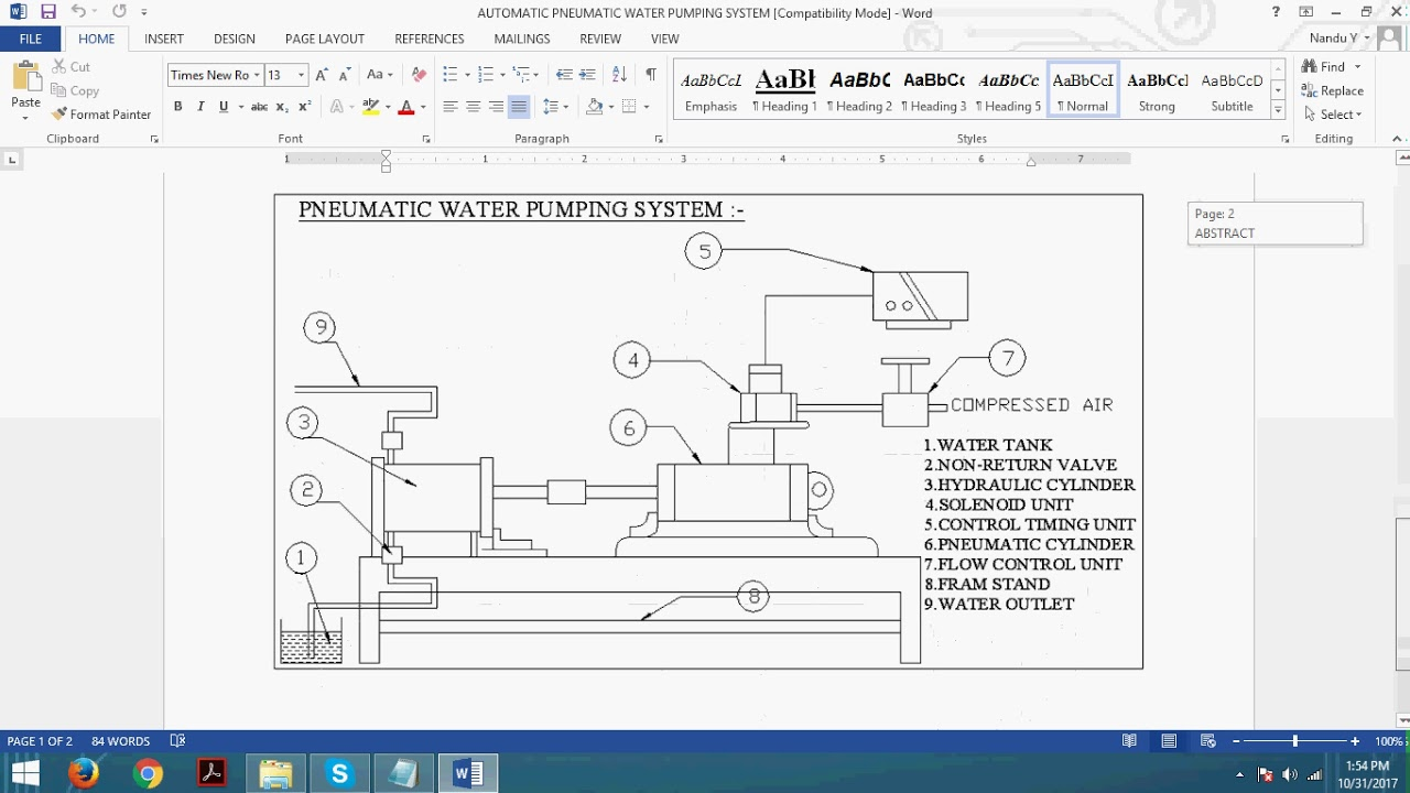 automatic pneumatic water pumping system [ 1280 x 720 Pixel ]