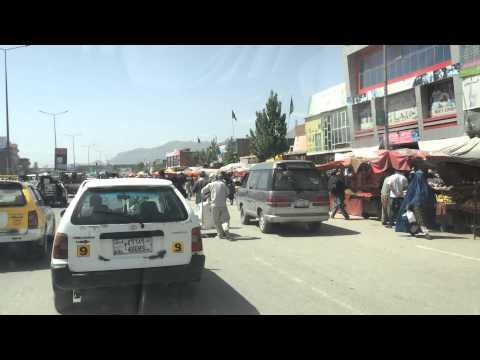 Driving in Kabul traffic