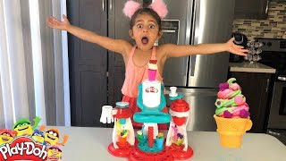 Sally Makes Play-Doh Ice Cream Creations with the Ultimate Swirl Ice Cream Maker!! pretend food play