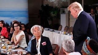 Trump llega tarde a reunión del G7 y Justin Trudeau pide empezar sin esperar a los