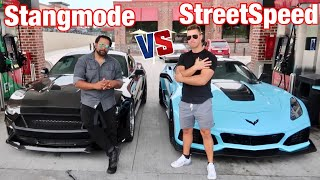 STREETSPEED 717 1000hp ZR1 vs Stangmode VMP BOOSTED BLACK MAMBA!
