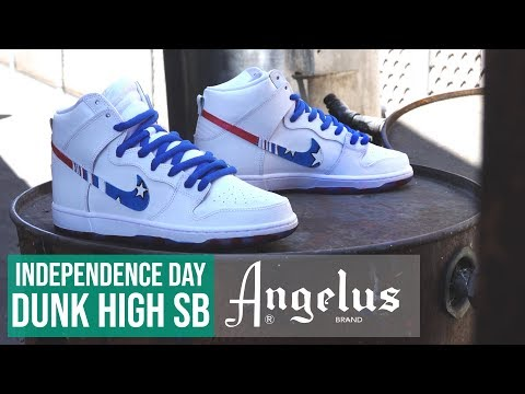 How to Custom Nike Dunk High SB | Sole Dye | Angelus Paint