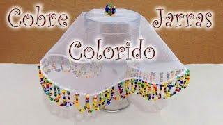 Artesanato passo a passo: Cobre jarras colorido