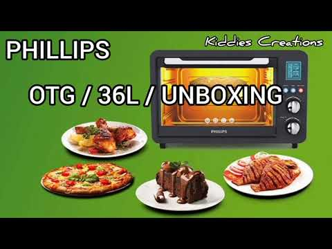 PHILIPS OTG 36L UNBOXING MODEL NO. HD6976/00 / SIMPLE COOKIES RECEIPE/