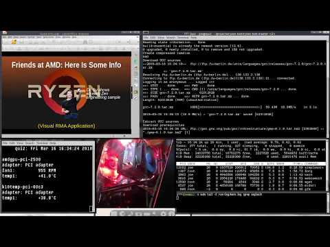 The AMD Ryzen Linux Bug - What it looks like - YouTube