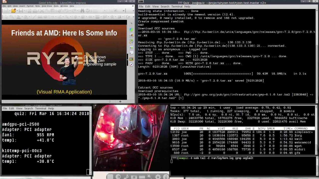The AMD Ryzen Linux Bug - What it looks like