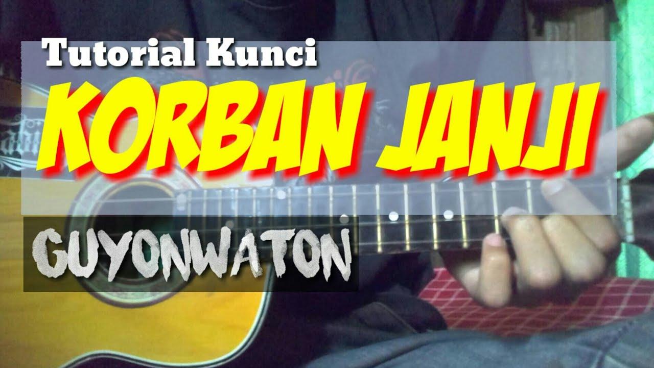 kunci gitar ukulele senar 4 KORBAN JANJI