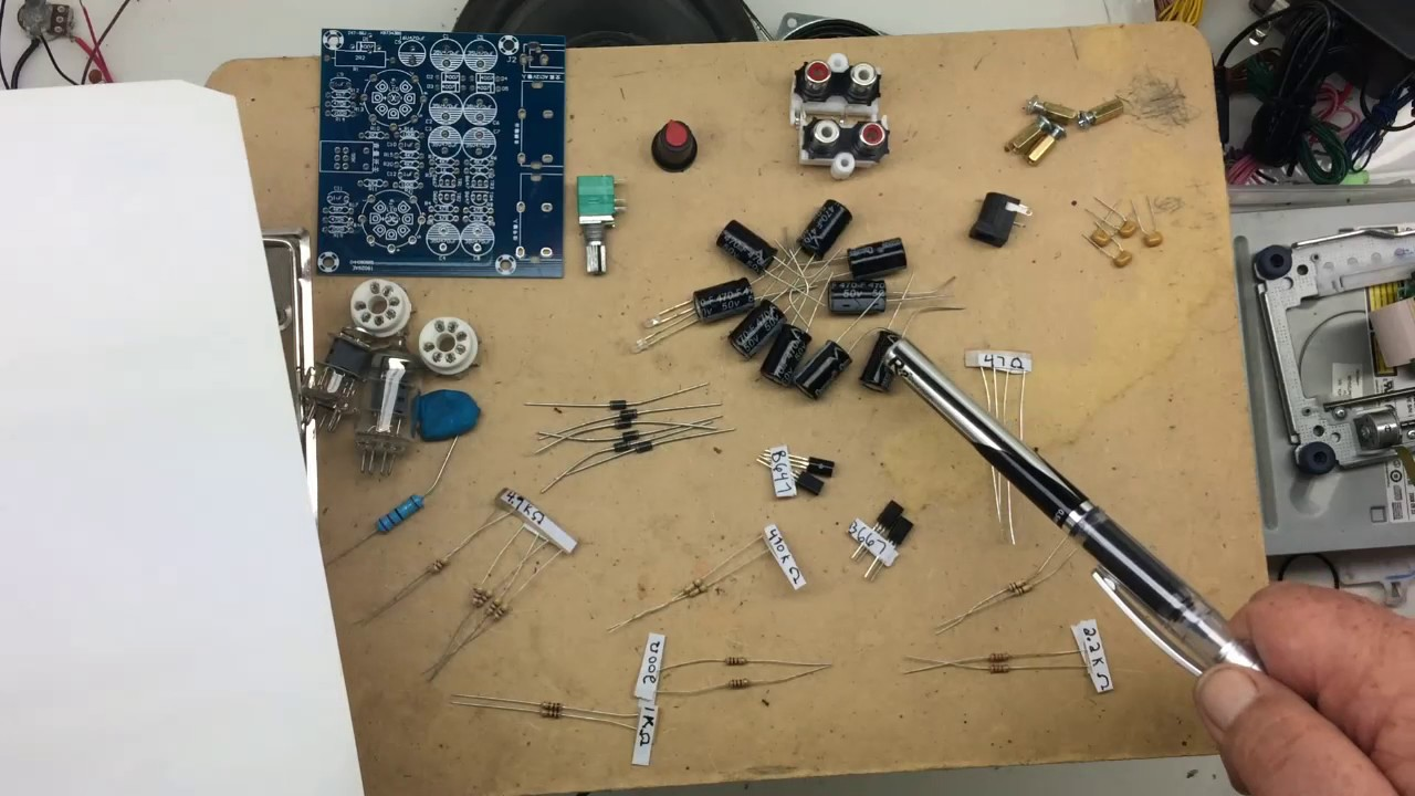 6j1 Tube Preamp/headphone Amp Build Part 1(The Parts)