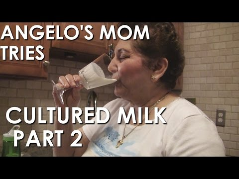 Angelo's Mom Tries Cultured Milk Pt 2 and is Happy for TJ