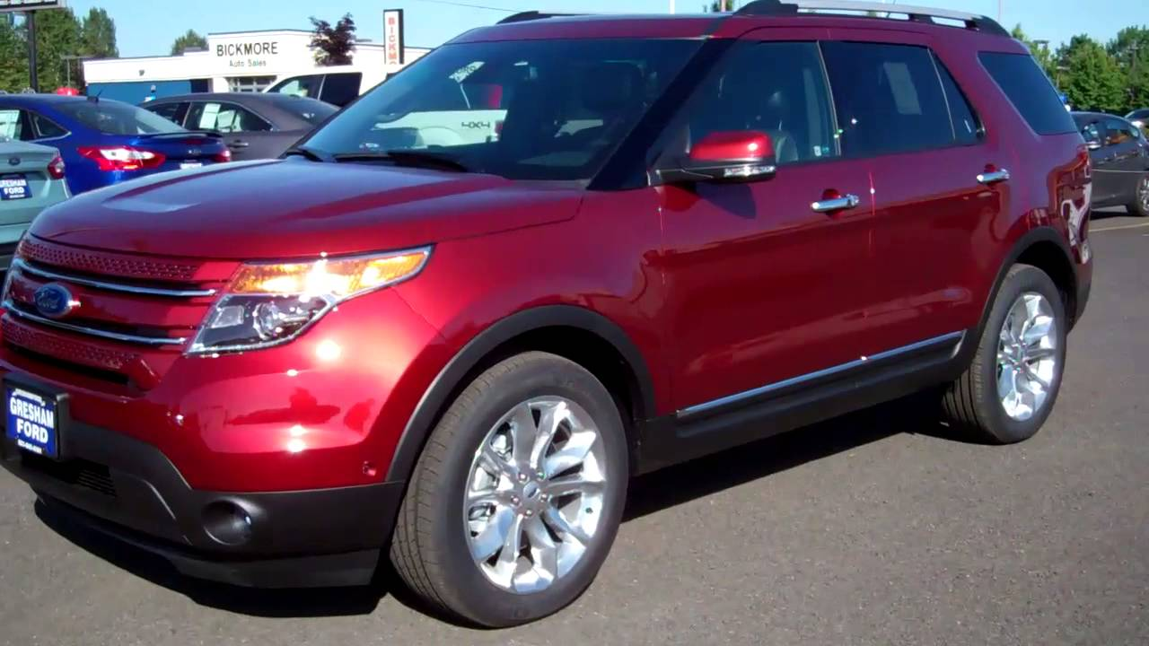 2014 ford explorer limited in sunset metallic at gresham ford - Ford Explorer 2014 Limited