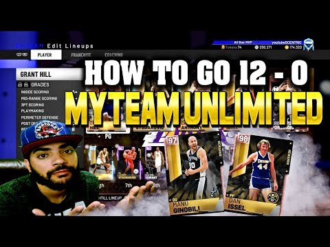 TIPS On How to GO 12-0 in Myteam UNLIMITED! Nba 2k19 Myteam INFORMATIVE Guide CHEESE AND ALL