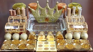 """Mixing """"GOLD""""Makeup,More Stuff &GOLDSlime Into slime!Most Satisfying Slime Video."""