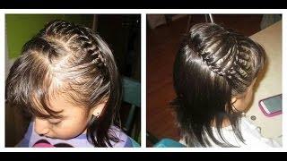 Trenzas para niña cabello corto