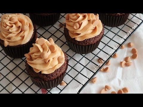 Peanut Butter Chocolate Cupcakes 피넛버터 초코컵케이크 | SweetHailey