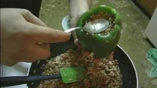 Stuffed Green Bell Peppers Recipe : Stuffing Peppers For Stuffed Green Peppers