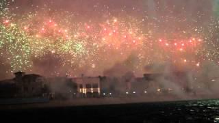 World's biggest firework show -- the Palm, Dubai 2014! (HD)