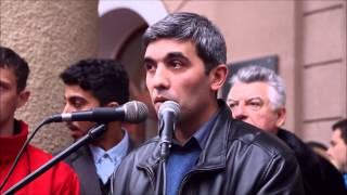 Митинг студентов Крымского государственного медицинского университета