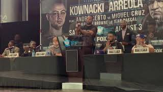 Jean Pascal Vs Marcus Browne Opening Remarks Press Conference