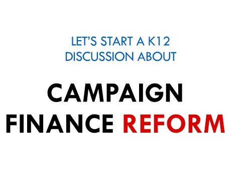 Teachers should start a student discussion centered around campaign finance reform.