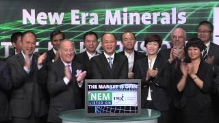 New Era Minerals Inc. (NEM:TSX-V) opens TSX Venture Exchange, June 27, 2014.