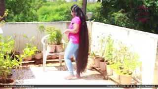 ILHW New Calf Length Extra Thick Dense Rapunzel 39 s Sensational Bun Drop Hair Flaunting on Terrace
