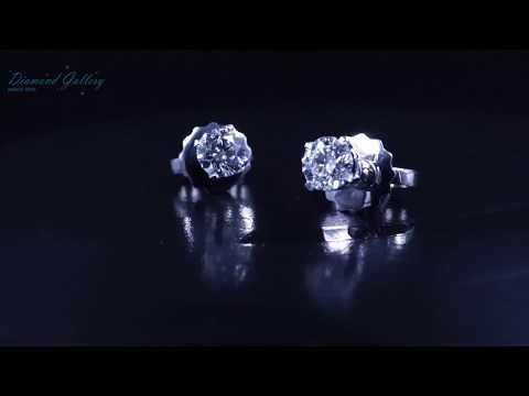Пусеты с бриллиантами по 0,30 кр от Diamond Gallery