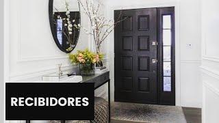 30 Ideas de ENTRADAS Y RECIBIDORES de casas modernas Decoracion diseño de interiores curso de 2018 YouTube