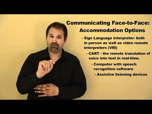 Common Accommodations for the Deaf/Hard of Hearing