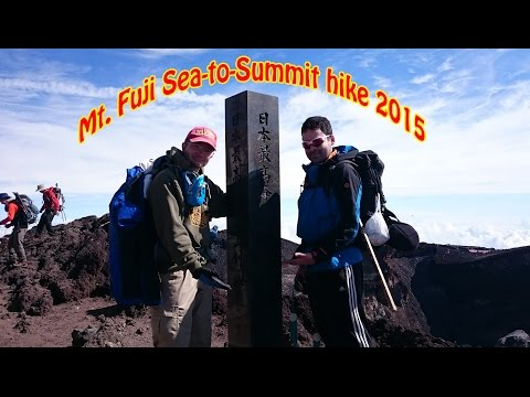 Mt. Fuji Sea-to-Summit hike 2015