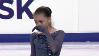 JGP 第4戦 ロシア大会で優勝したValievaちゃんSP、FS