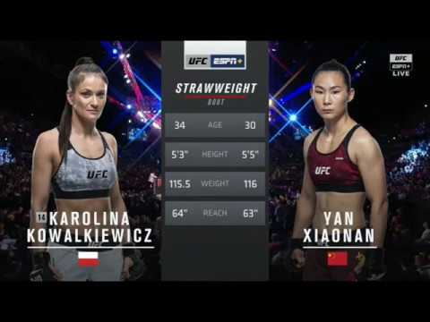 Karolina Kowalkiewicz Vs Yan Xiaonan  Fight Highlights
