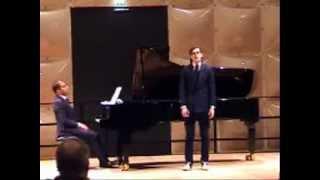 Benjamin Britten by Benedikt Kristjànsson (tenor) and Leonardo Reyna (piano)