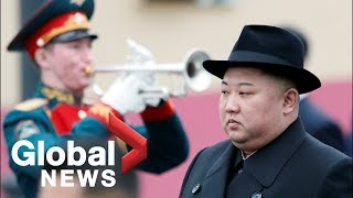 North Korea's Kim Jong Un receives military welcome in Russia ahead of summit with Putin