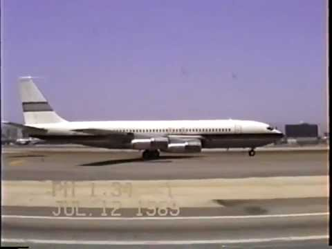 Private Boeing 707-123(B) Departing LAX