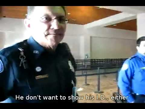 Phil Mocek arrested at ABQ (Albuquerque International Airport) TSA checkpoint 2009-11-15 14:34