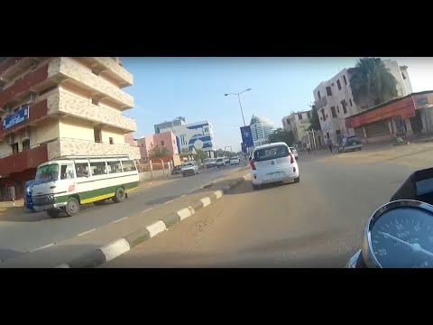 Motorcycle Ride Thru Khartoum, Sudan