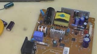 ремонт монитора бірі-фото салон lg l1753tr қосылмайды (ауыстыру конденсаторлар)