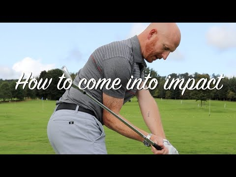 Golf swing approaching impact