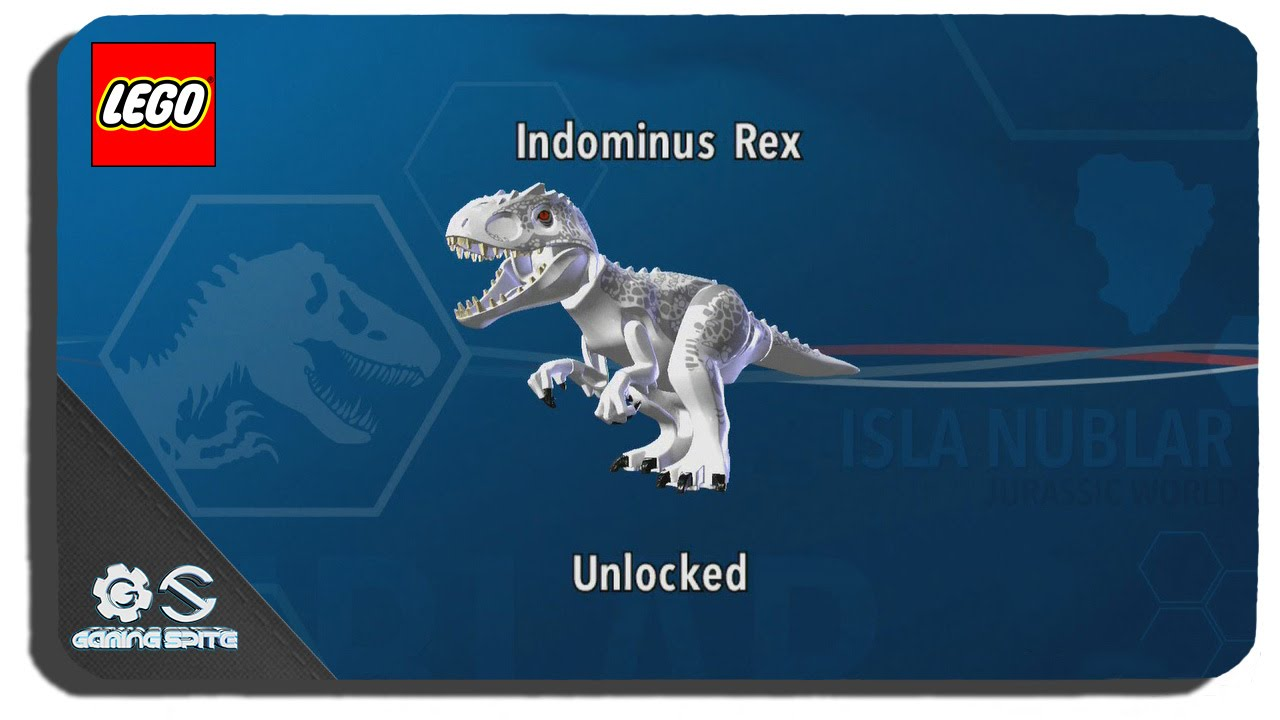 Lego jurassic world how to unlock indominus rex dinosaur for T rex location