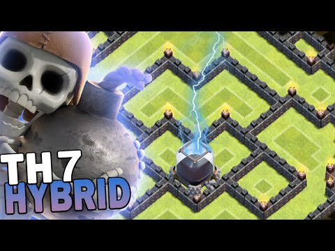 Clash Of Clans Th7 Best Ever Dark Elixir Farming Base Coc By Zegd